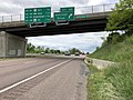 2019-05-17 12 35 11 View west along Interstate 68 and U.S. Route 40 and south along U.S. Route 220 (National Freeway) at Exit 45 (Hillcrest Drive) in Wolfe Mill, Allegany County, Maryland.jpg