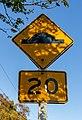 20 kmph sign, Richmond, Christchurch, New Zealand.jpg