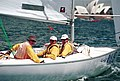 231000 - Sailing sonar Jamie Dunross Noel Robins Graeme Martin action 7 - 3b - 2000 Sydney race photo.jpg
