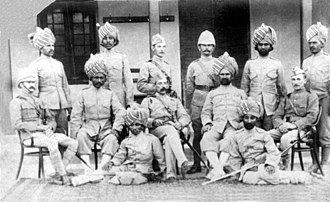 124th Duchess of Connaught's Own Baluchistan Infantry - Image: 24th Baluchistan Infantry, 1896 Colonel Alfred Pearson commanding