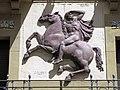 282 Can Titus (Camprodon), relleu escultòric de Joaquim Claret.JPG