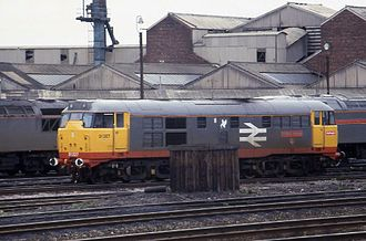 Thornaby TMD - British Rail Class 31 No.31327 awaits its next turn of duty at Thornaby TMD.