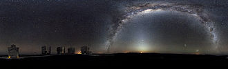 Paranal Observatory - Image: 360 degree Panorama of the Southern Sky edit