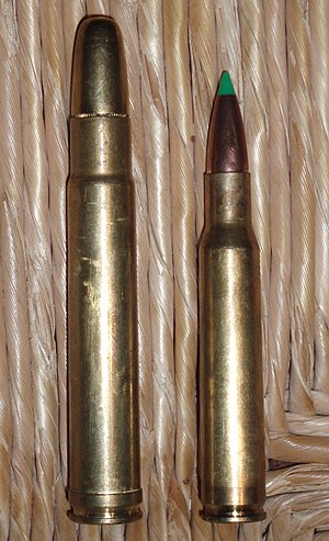 .416 Remington Magnum - Image: 416 Remington Magnum and 30 06 Springfield