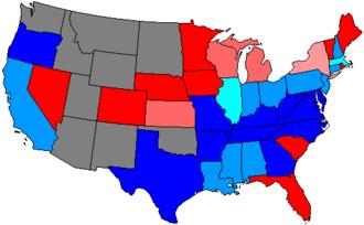 United States House of Representatives elections, 1874 - Image: 44 us house membership