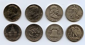 Half dollar (United States coin) - Various half dollar designs