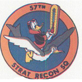 57th Weather Reconnaissance Squadron - Image: 57 Strategic Reconnaissance Sq emblem
