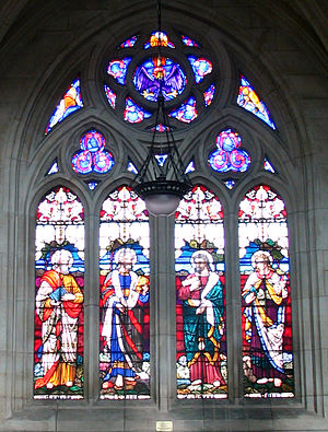 St. Paul's Cathedral, Dunedin - Image: 5 St.Paul's Cathedral Dunedin NZ window