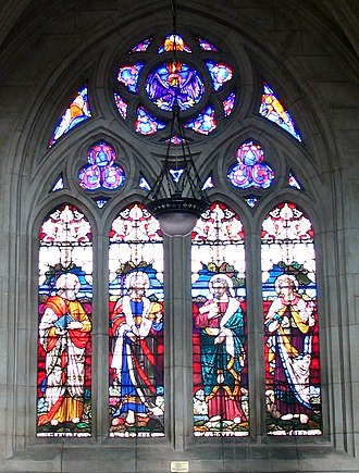 St. Paul's Cathedral, Dunedin - Image: 5 St.Paul's Cathedral Dunedin NZ window