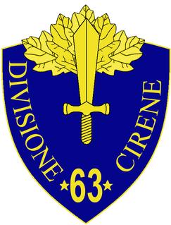 63rd Infantry Division Cirene