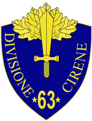63rd Infantry Division Cirene - 63rd Infantry Division Cirene Insignia