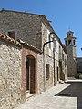 64 Carrer de Dalt (la Granada), al fons campanar de Sant Cristòfor.jpg