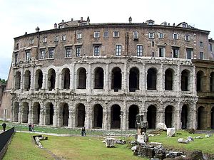 Theatre of Marcellus - End section, showing later redevelopment