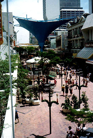 Queen Street Mall, Brisbane - Queen Street Mall prior to its 1999 refurbishment
