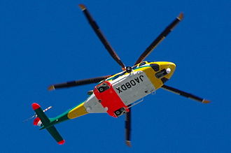 AgustaWestland AW139 - The AW139 has a five-blade main rotor and retractable undercarriage
