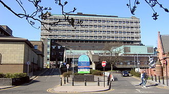 NHS Scotland - The Western Infirmary in Glasgow.