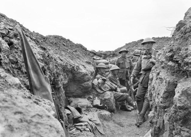 AWM E02834 Australian 58th and 59th Battalions Morlancourt July 1918