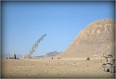A Company, 9th Engineer Battalion, firing the MICLIC in training, Andar, Afghanistan 2011.jpg