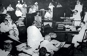 Parliament House (India) - Image: A Constituent Assembly of India meeting in 1950