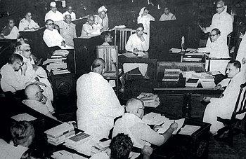 A Constituent Assembly of India meeting in 1950.jpg