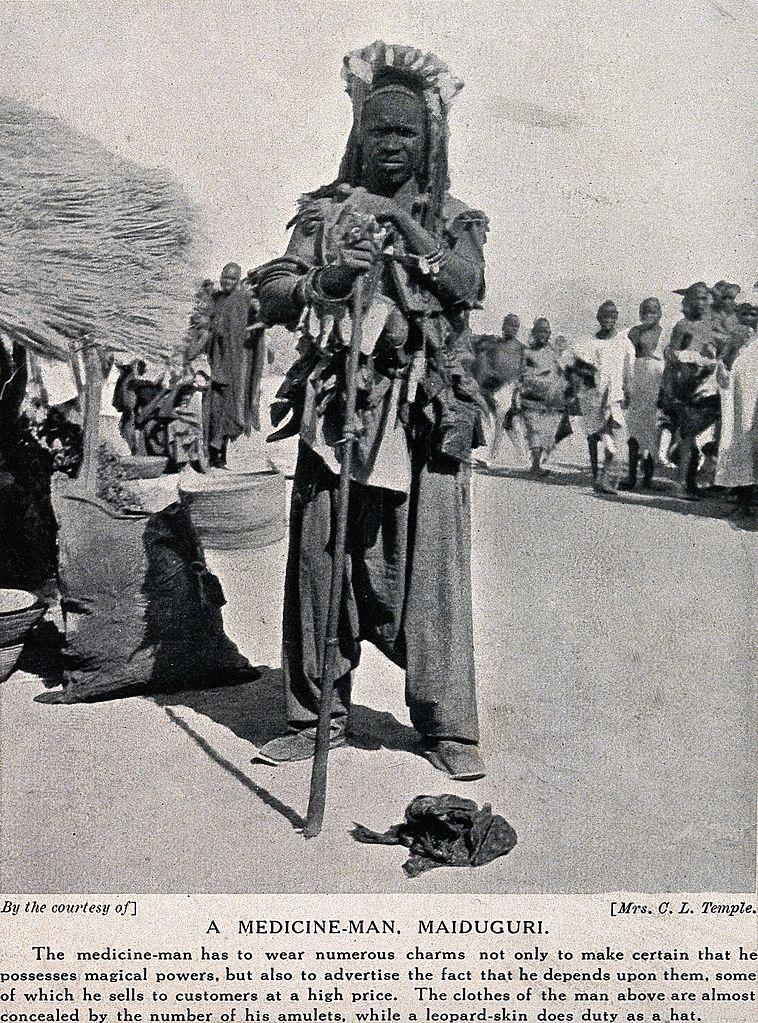 A description of a shaman or medicine man