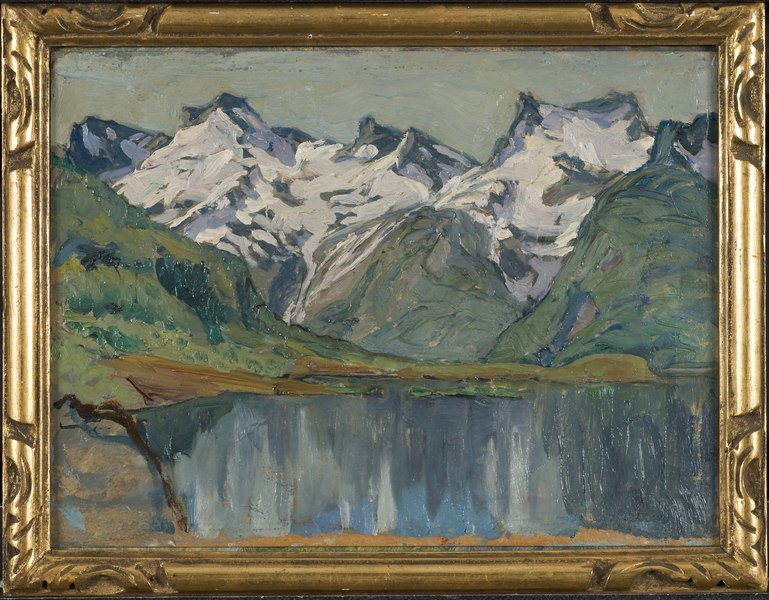 A Mountain Lake. Study from North Norway (Anna Boberg)