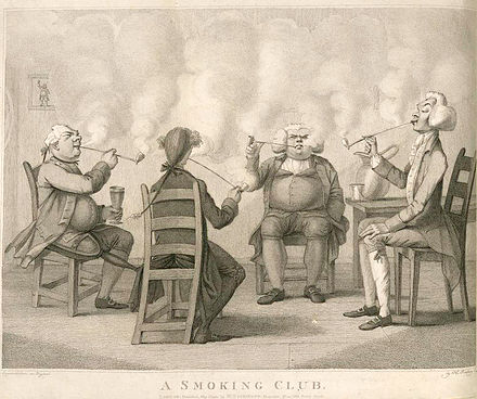 An illustration from Frederick William Fairholt's Tobacco, its History and Association, 1859 A Smoking Club.jpeg