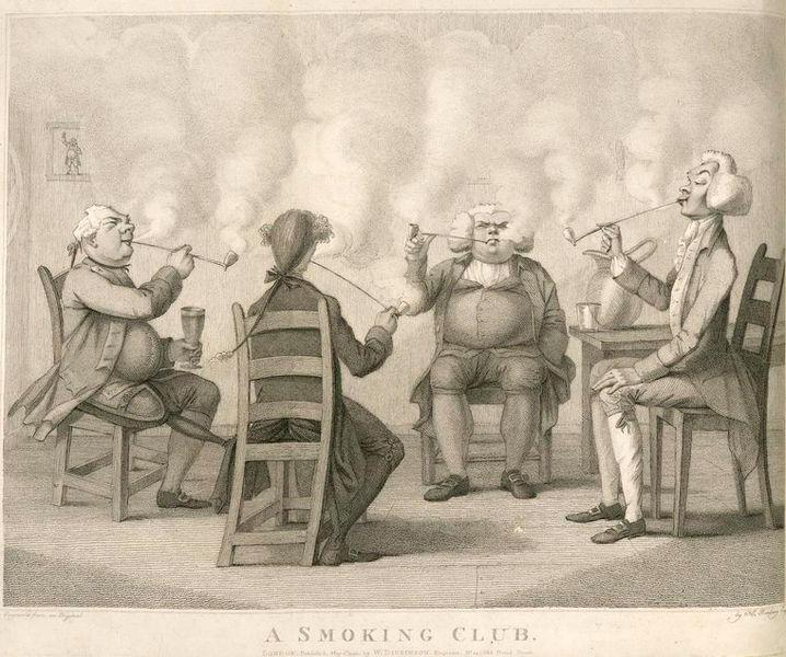 Una ilustración de la obra de Frederick William, Fairholt's Tobacco, its History and Association (1859).