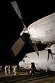 A U.S. Air Force EC-130H Compass Call aircraft assigned to the 43rd Expeditionary Electronic Combat Squadron is prepared for its final flight from an undisclosed base in Southwest Asia Aug. 29, 2010 100829-F-VT419-316.jpg