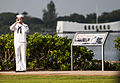 A U.S. Navy bugler plays taps during a Pearl Harbor Day 71st anniversary commemoration at the World War II Valor in the Pacific National Monument in Pearl Harbor, Hawaii 121207-N-XD424-204.jpg