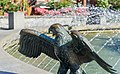 A bronze statue of eagle, Victoria Centennial Fountain, Victoria, British Columbia, Canada 09.jpg
