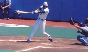 Lloyd Moseby - Moseby at bat during a game in September 1985