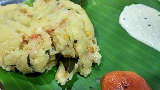 Upma Dish originating from the Indian subcontinent