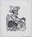 A skeleton selling cheese from a broadside entitled 'Una Calavera Chusca' MET DP869243-1.jpg