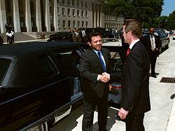 King Abdullah II on a visit to The Pentagon.