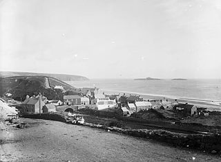Aberdaron with Gwylan Islands