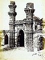 Achut Bibi's Mosque Ahmedabad 1866 Minarets.jpg