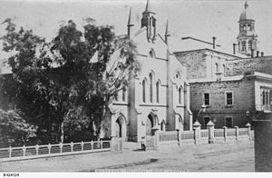 Pilgrim Uniting Church - Image: Adelaide views Wesleyan Church, Pirie Street B 62412 8