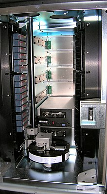 ADIC Scalar 100 Tape Library - (C) Aaron Kuhn - CC 2.5 by Wikimedia Commons