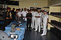 Admiral Sunil Lanba the Chief of the Naval Staff being briefed at INS Karna.jpg