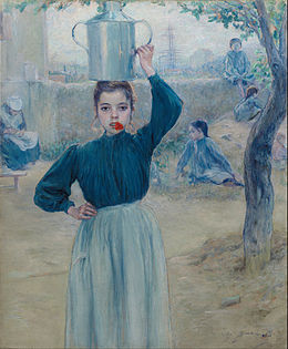 Adolfo Guiard - The Little Village Girl with Red Carnation - Google Art Project.jpg