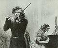 Adolph von Menzel - Joseph Joachim + Clara Schumann (Zeichnung 1854).jpg