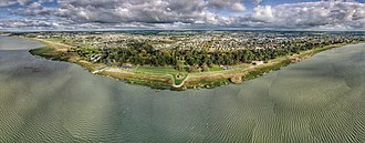 Lake Colac - Image: Aerial perspective of Lake Colac