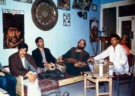 Afghan musicians - Herat, 1973