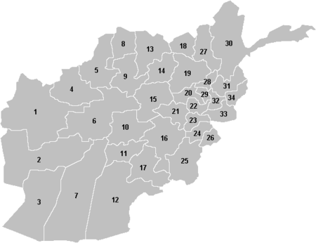 Afghanistan provinces numbered gray.PNG