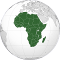 Orthogrpahic projection of Africa