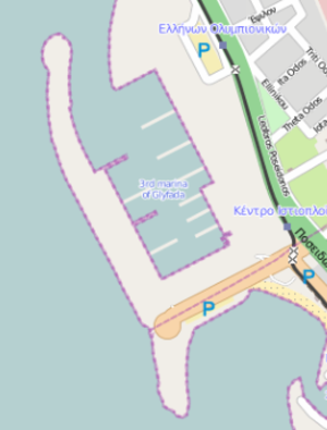 Agios Kosmas Olympic Sailing Centre - Open street map view Olympic harbor for the 2004 Summer Olympics in Athens.