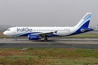IndiGo - IndiGo uses as an Indigo-sky blue livery as seen on the Airbus A320 aircraft