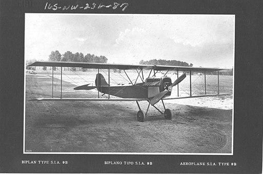 Airplanes - Types - Biplane Type S.I.A. 9B - NARA - 17342443