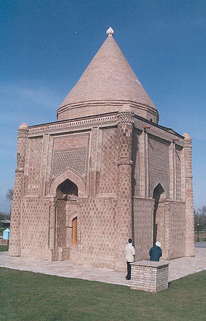 Kara-Khanid Khanate - The restored mausoleum of Ayshah bibi near Taraz.